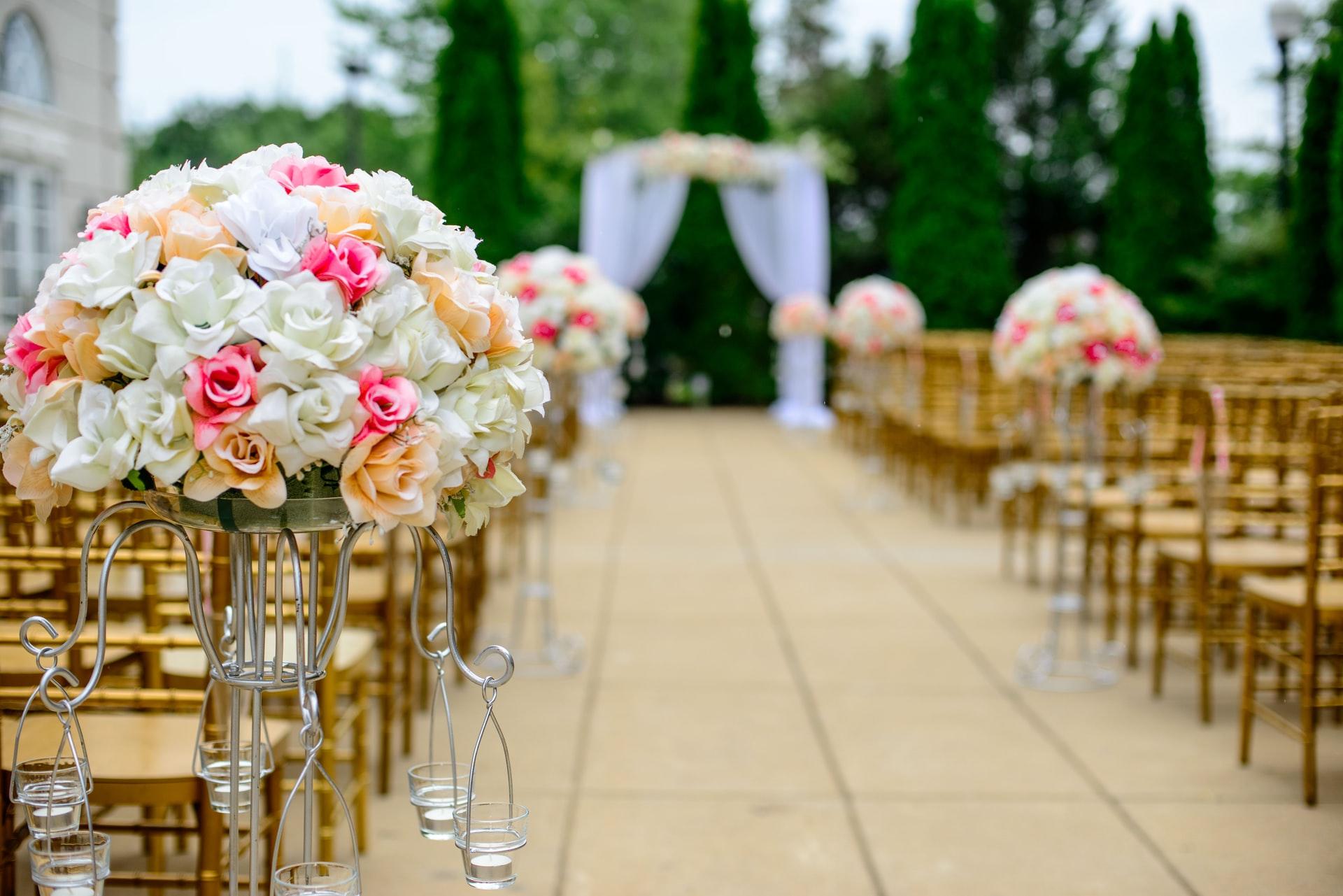 Blumen für Hochzeit